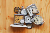 Pile of clocks — Stock Photo