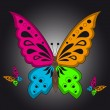 Colorful Butterfly — Vector de stock #10102057