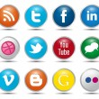 Color Social Media Icons - Stock Vector