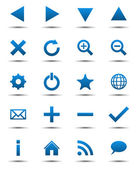 Blue Navigation Web Icons — Stock Vector