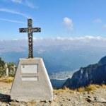 Cross on Mountain Bucegi — Stock Photo