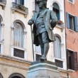 CARLO GOLDONI STATUE, VENICE — Stock Photo