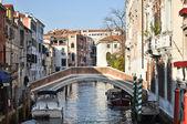 Bridge over a canal, Venice — Stock Photo