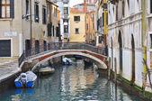 Bridge over a canal — Stockfoto