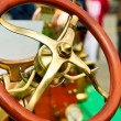 Steering wheel of an old car - Stock Photo