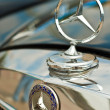 Stock Photo: Mercedes benz logo