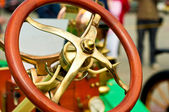 Steering wheel of an old car — Stock Photo