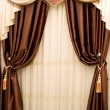 Stock Photo: Brown drapery