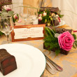 Stock Photo: Table decorated for wedding