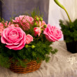 Stock Photo: Roses in Basket
