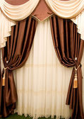 Brown drapery — Stock Photo
