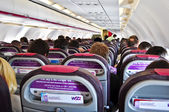 Inside a plane WizzAir — Stock Photo