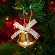 Stock Photo: Bell decoration on Christmas tree