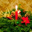 Stock Photo: Christmas candle ornament