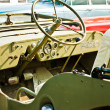 Interior of old vintage car — Stock Photo