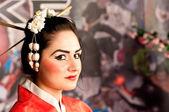 Pretty young Geisha girl — Stock Photo