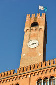 Ancient clock tower in Treviso city center — Stock Photo