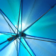Stock Photo: Translucent blue umbrella