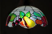 Tiffany ceiling lamp — Stock Photo