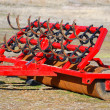 Stock Photo: Red farm tool