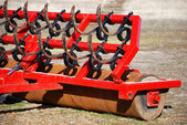 Red farm tool close up — Stock Photo