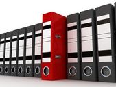 Folders for documents, 3D — Stock Photo