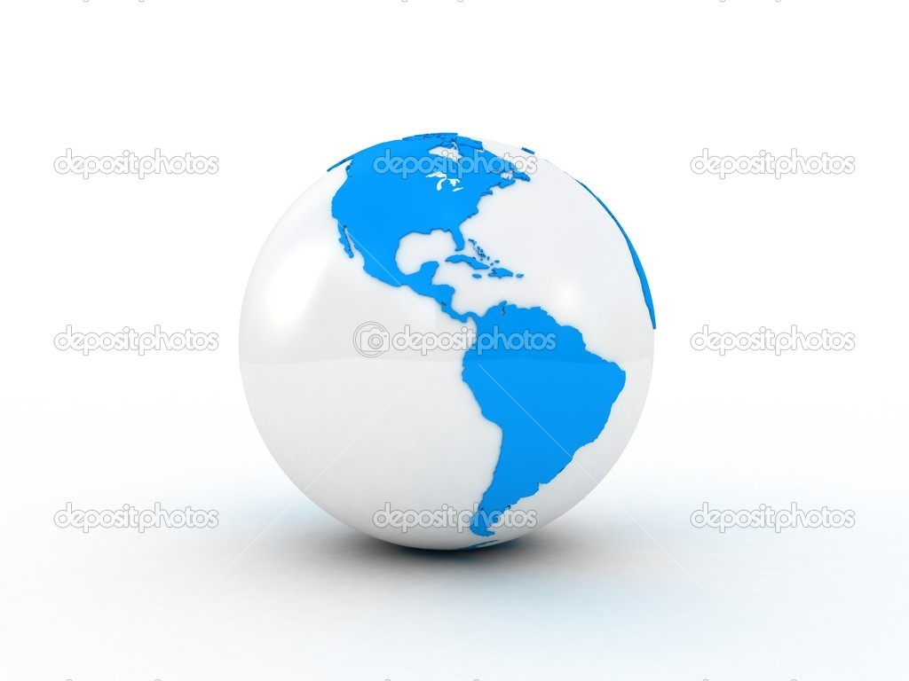 Globe isolated white background, 3D — Stock Photo #8793940