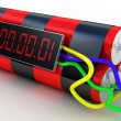 Bomb with digital timer — Stock Photo
