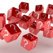 Cubes with a question — Stock Photo #9194977