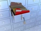Filing cabinet for documents — Stock Photo
