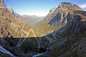 One of the most dramatic mountain passes in the world, Trollstigen in Norway — Stock Photo