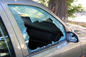 Car with Busted Window — Stock Photo