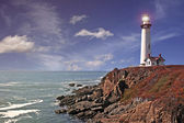 Faro di Pigeon point — Foto Stock