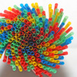 Colorful drinking straws — Stock Photo