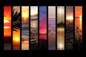 Sun set collage — Foto Stock