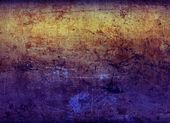 Roestige metalen plaat 2 gel-verlicht — Stockfoto