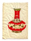 Oosterse vaas gemaakt van hand-cut papier — Stockfoto
