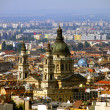 Budapest view Hungary with the Saint Stephen Basilica in the middle — Stock Photo #8498262