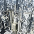 Stock Photo: Metropolis 3D render