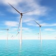 Windfarm in das Meer 3d render — Stockfoto #8755392