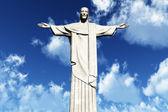 Jesus Statue in Rio De Janeiro Brazil Corcovado Mountain 3D render — Stock Photo