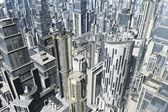Metropolis 3D render — Stock Photo