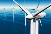 Wind Turbines in the Sea — Stock Photo