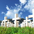 Military Cemetery 3D render — Stock Photo