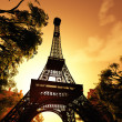 Paris Eiffel Tower 3D render - Stock Photo