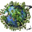Earth Nature and Travel Concept 3D render — Stock Photo