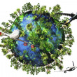 Stock Photo: Earth Nature and Travel Concept 3D render