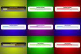 Downloading Uploading Screen Designs — Stock Photo