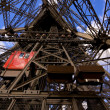 Lifts on Eiffel Tower - Stock Photo