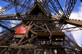 Lifts on Eiffel Tower — Stock Photo